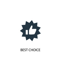 best choice icon simple element vector image
