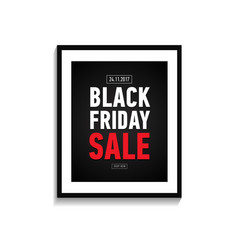 Black friday sale poster in frame online shopping vector