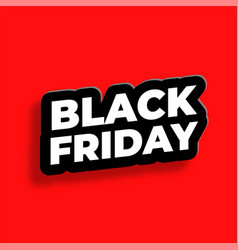 Black friday text effect in 3d style background vector
