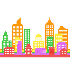 bright colorful cityscape background modern vector image