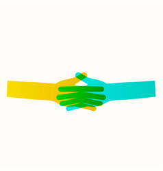 Business icon handshake transaction vector