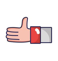 Businessman hand communication symbol language vector