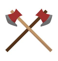 camping axes color icon design sign vector image