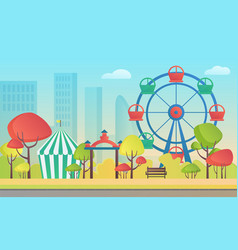 cartoon an amusement vector image