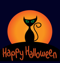 cat sign with text happy halloween 109 vector image