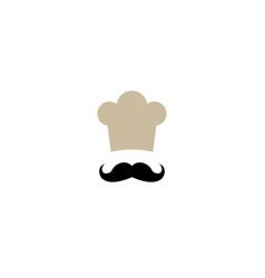 chef logo design vector image