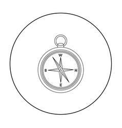 compass icon in outline style isolated on white vector image
