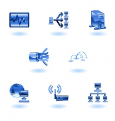 computer network icons vector image