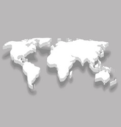 continent 3d white world map business infographic vector image