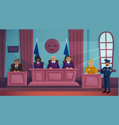 court law justice cartoon vector image