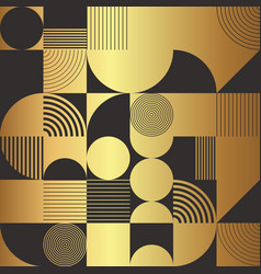 creative golden circle seamless pattern vector image