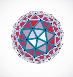 dimensional wireframe low poly object colorful vector image