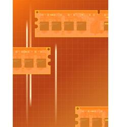 electronic memory vector image