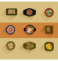 Food Korean food icon vector image