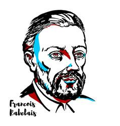 Francois rabelais portrait vector