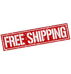 free shipping square grunge stamp vector image