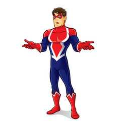 friendly superhero regret vector image