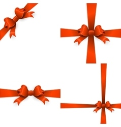 Gift orange ribbon and bow EPS 10 vector image