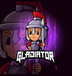 Gladiator esport mascot logo design vector
