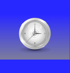 glass white shinny clock vector image