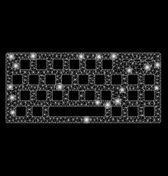 Glossy mesh 2d keyboard with flash spots vector