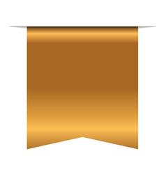 Gold bookmark banner 3d vertical book mark vector