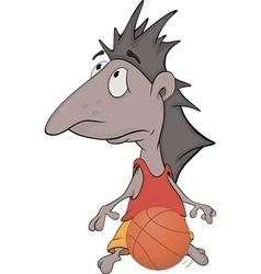 Hedgehog the basketball player vector