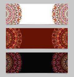Horizontal colorful abstract floral mandala vector