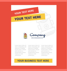 hydrant title page design for company profile vector image