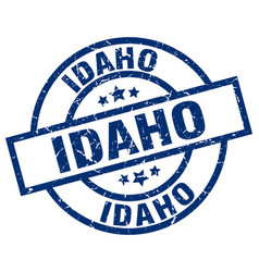 Idaho blue round grunge stamp vector
