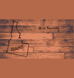 Idaho map brand vector