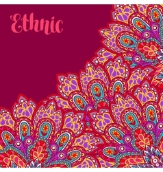 Indian ethnic background with hand drawn ornament vector image
