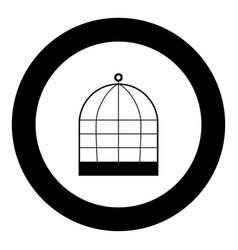 Iron cage icon black color in circle vector