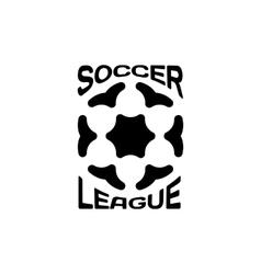 Isolated ball logo Sport logotype Soccer vector image