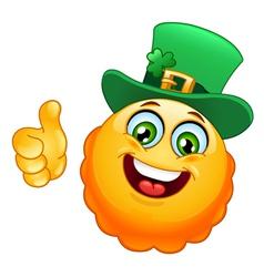 leprechaun emoticon vector image