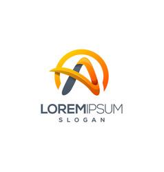 Letter a logo design vector