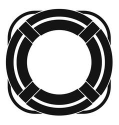 Lifebuoy icon simple vector