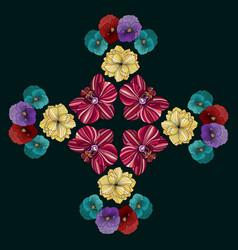medieval style flower mandala vector image