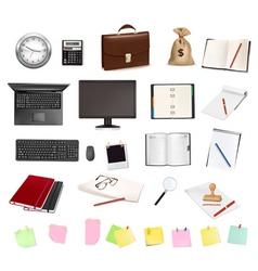 mega set business elements vector image