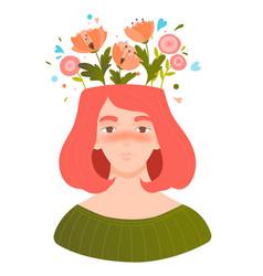 Mental health psychology vector