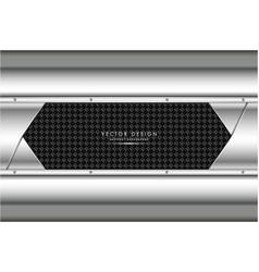 Metallic gray with carbon fiber vector
