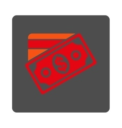 Money Rounded Square Button vector image