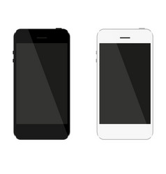 network which consists of black and white phone vector image