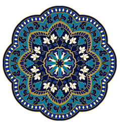 ornate blue mandala vector image