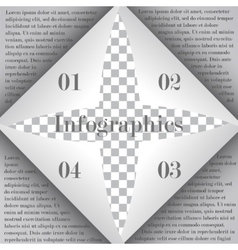 Page curl for infographic vector image