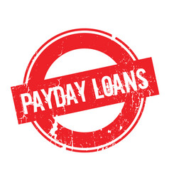 Payday loans rubber stamp vector