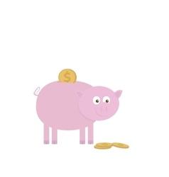 Piggy bank for saving money vector image