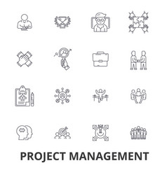 Project management project plan consulting vector