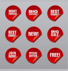Promotion discount stickers vector