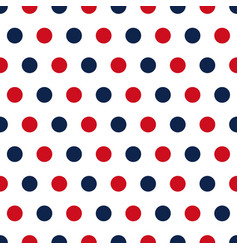 red and blue polka dots seamless pattern vector image